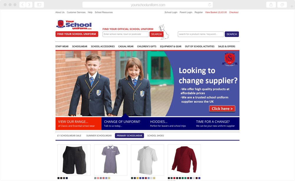 Your School Uniform - screen