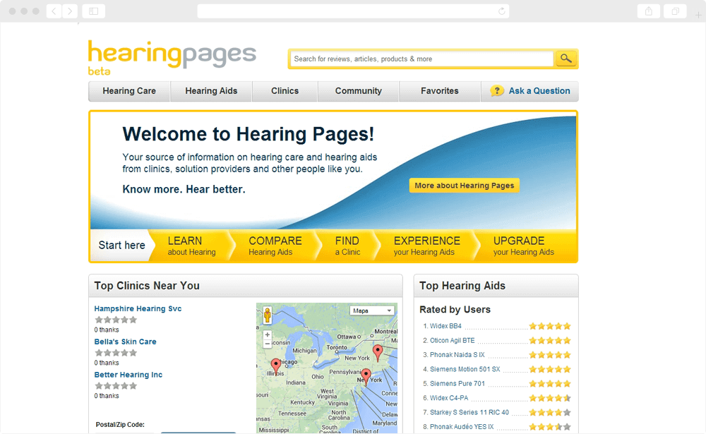 Hearing Pages - screen