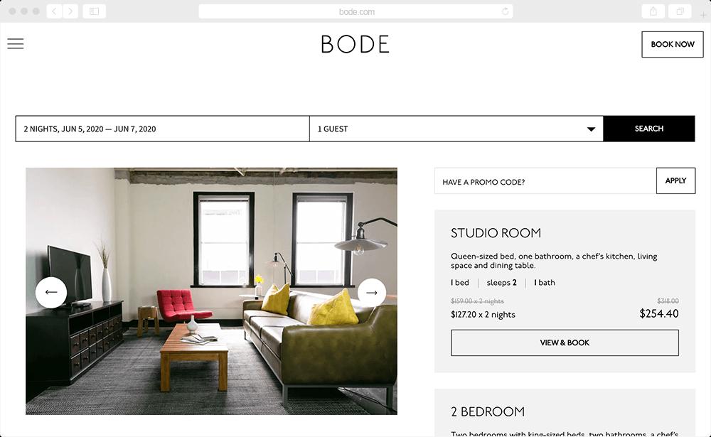 Bode - screen