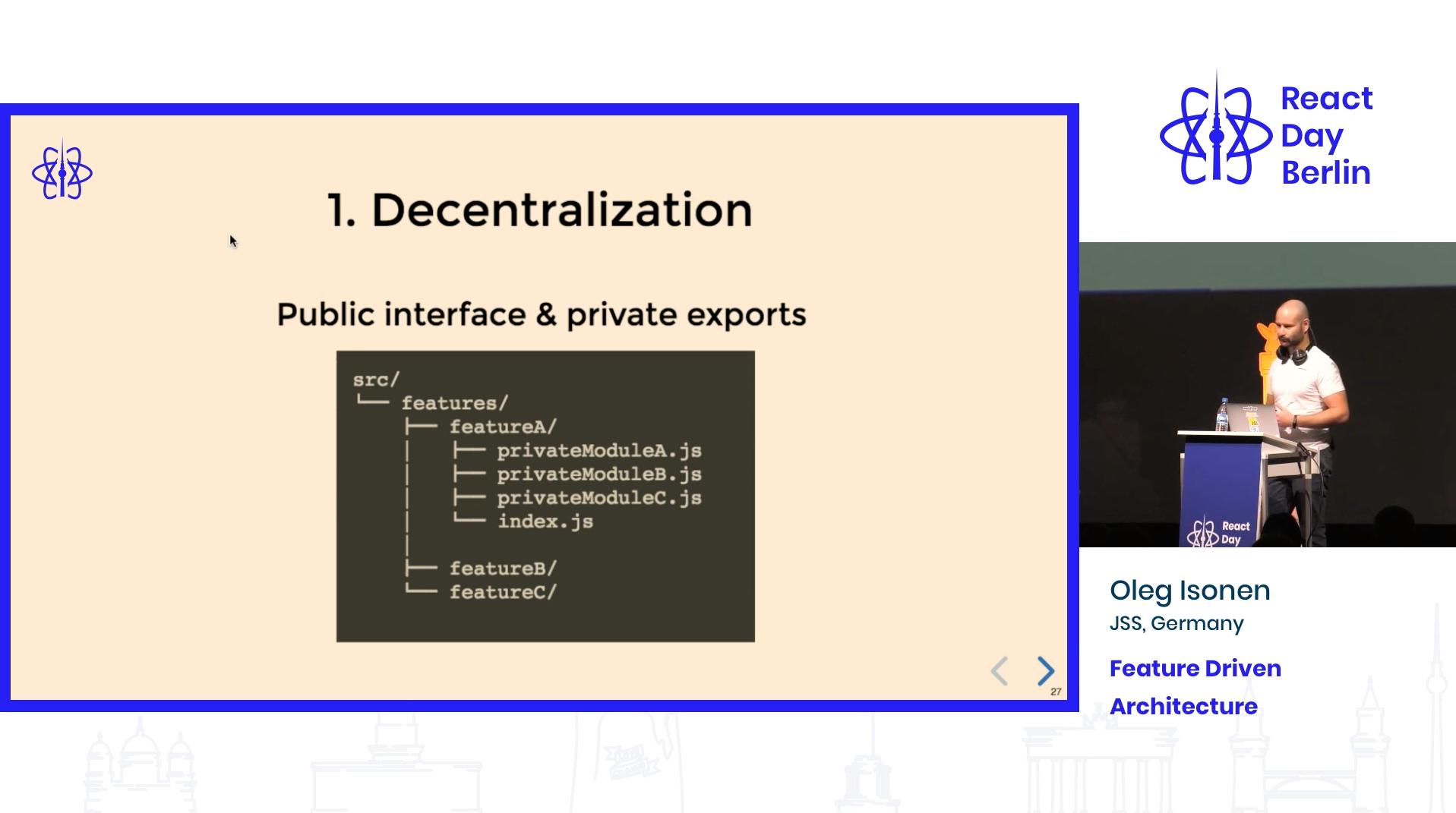 React Application Architecture: Decentralization