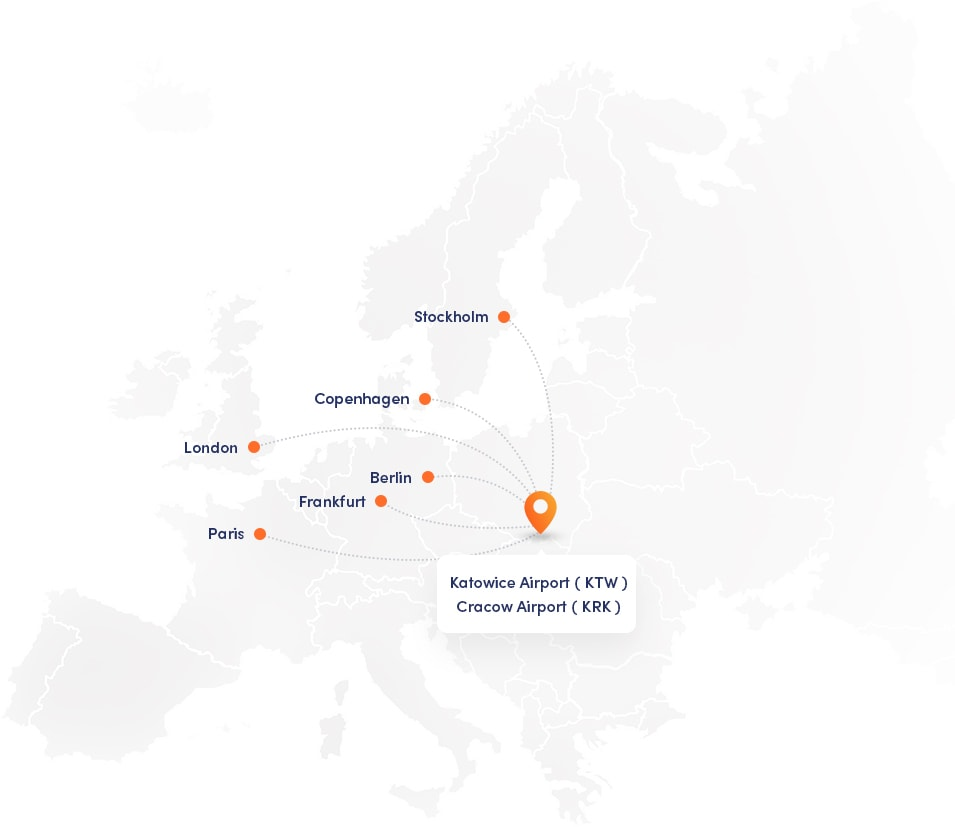 We are based in Central Europe and work with **clients and partners worldwide**